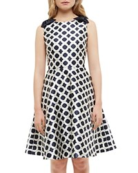 Ted Baker Blushing Rose Geo Dress Navy