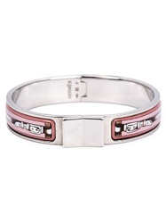 Hermes Vintage Belt Enamel Bracelet Pink And Purple