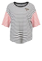 Sonia Rykiel By Print Tshirt Lips Ecru Red