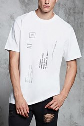Forever 21 Parking Ticket Graphic Tee White Black