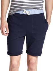 Band Of Outsiders Cotton Knit Shorts Navy