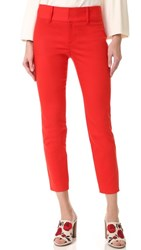 Alice Olivia Cadence Cropped Trousers Poppy