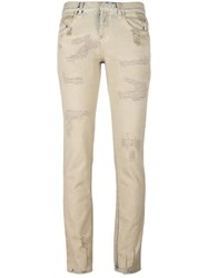 Faith Connexion Stretch Skinny Jeans Nude Neutrals