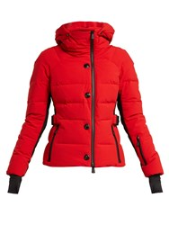 Moncler Grenoble Guyane Quilted Down Jacket Red