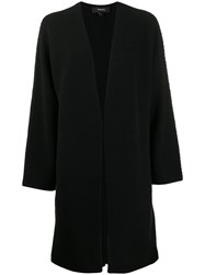 Theory Open Front Knitted Cardigan Black