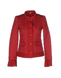 Massimo Rebecchi Coats And Jackets Jackets Women Brick Red