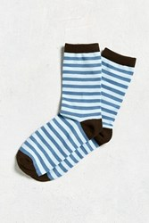 Urban Outfitters Classic Stripe Sock Blue