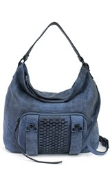 She Lo 'Next Chapter' Studded Hobo Bag Blue