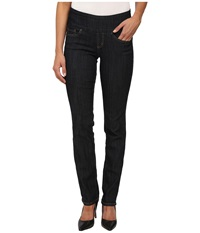 Jag Jeans Peri Pull On Straight Comfort Denim In Late Night Late Night Women's Jeans Navy