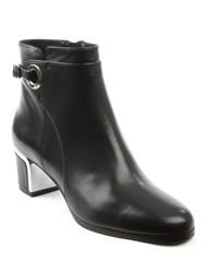Daniel Enthusiastic Metal Trim Buckle Boots Black