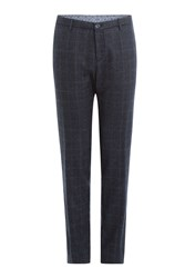 Etro Wool Trousers With Prince Of Wales Check Blue