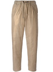 Brunello Cucinelli Loose Fit Joggers Nude Neutrals