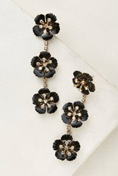 Anthropologie Cherry Blossom Drop Earrings Black