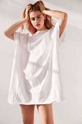 Silence And Noise Oversized Drop Shoulder Tee Dress White