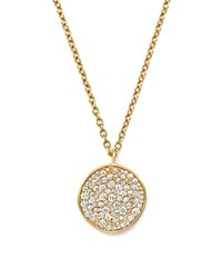 Ippolita 18K Yellow Gold Glamazon Stardust Flower Pendant Necklace With Diamonds 16