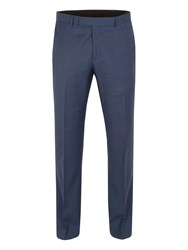 Aston And Gunn Oxenhope Sharkskin Tailored Trouser Blue