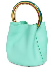 Marni Pannier Leather Shoulder Bag Green