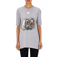 Givenchy Women's Monkey Brothers T Shirt Grey Light Grey Grey Light Grey