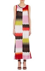 Missoni Chevron Sporty Maxi Dress Red
