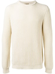 Nuur Ribbed Detail Jumper Nude Neutrals