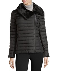 Marc By Andrew Marc New York Lined Collar Quilted Puffer Coat Black