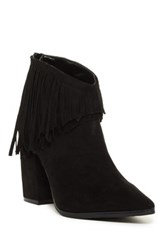 Kenneth Cole Reaction Pull Ashore Fringe Ankle Boot Black