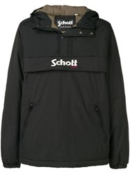 Schott Hooded Lightweight Jacket Black