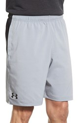 Men's Under Armour 'Ua Hiit' Stretch Woven Athletic Shorts Steel