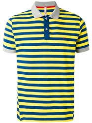 Sun 68 Striped Polo Shirt Men Cotton Spandex Elastane Xl Blue