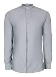 Selected Homme Blue Stand Collar Smart Shirt