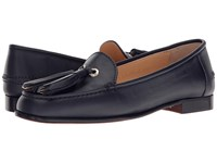 A. Testoni Tassel Loafer Navy Nappa Women's Slip On Shoes Blue