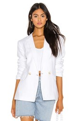 1.State Relaxed Fit Linen Blazer White