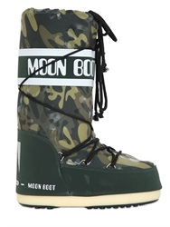 Moon Boot Waterproof Camouflage Print Snow Boots