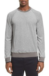 3.1 Phillip Lim Men's Velour Sweatshirt Light Grey