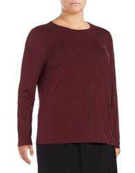 Lord And Taylor Plus Iconic Fit Blouse Black