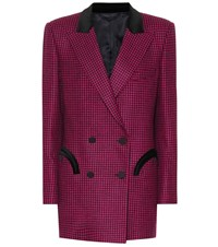 Blaze Milano Everyday Checked Wool Blazer Pink