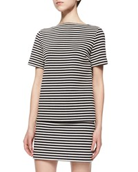 T By Alexander Wang Short Sleeve Striped Top Size 0 Black And White