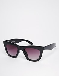 Warehouse Retro Angle Sunglasses Black