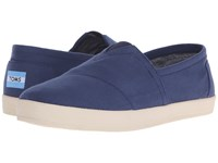 Toms Avalon Slip On Navy Canvas Men's Slip On Shoes Blue