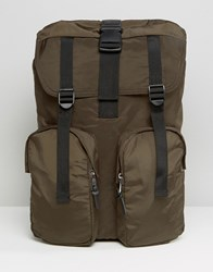 New Look Backpack In Dark Khaki Dark Khaki Green