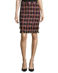 Trina Turk Jael Tweed Pencil Skirt Multi
