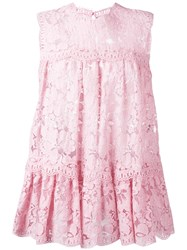 Alexander Mcqueen Sleeveless Lace Top Pink Purple