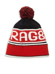 Rag And Bone Matthew Merino Wool Beanie Red