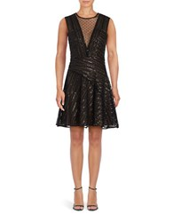 Bcbgmaxazria Aniya Sequined Dress Black