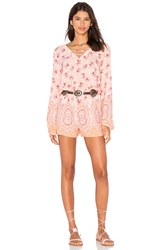 Sanctuary Brown Eyed Girl Romper Peach