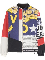 Versace Multi Print Zip Up Hooded Jacket A77p Multicoloured