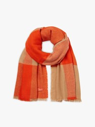 Joules Meadow Check Scarf Orange