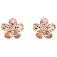 Hot Diamonds Flower Stud Earrings Rose Gold