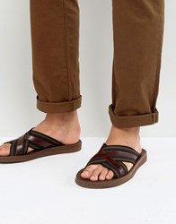 Paul Smith Pin Cross Over Sandals Black