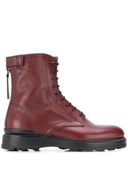 Woolrich Lace Up Ankle Boots Red